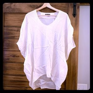 Vince Silk White Cocoon Tunic size large
